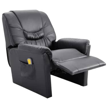 vidaXL Elektryczny fotel do masażu, z regulacją, szary, ekoskóra[5/11]