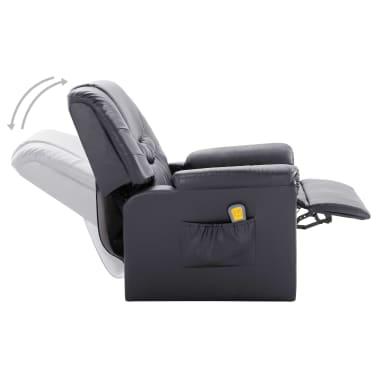 vidaXL Elektryczny fotel do masażu, z regulacją, szary, ekoskóra[6/11]