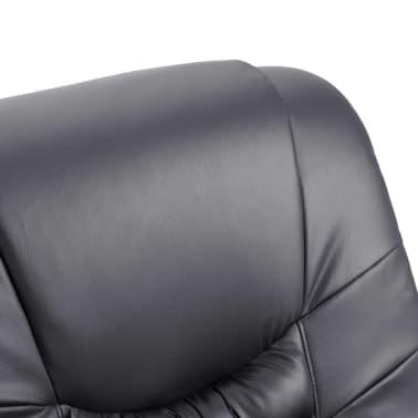 vidaXL Elektryczny fotel do masażu, z regulacją, szary, ekoskóra[7/11]