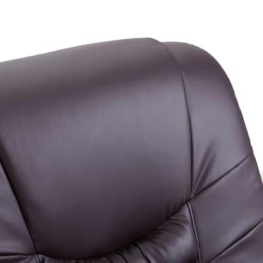 vidaXL Elektrické sklápacie masážne kreslo z umelej kože hnedé[7/11]