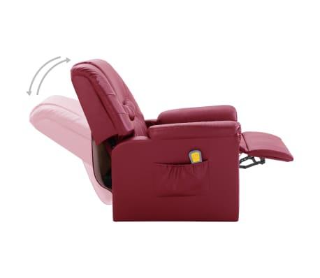 vidaXL Električni masažni stol vinsko rdeče umetno usnje[6/11]