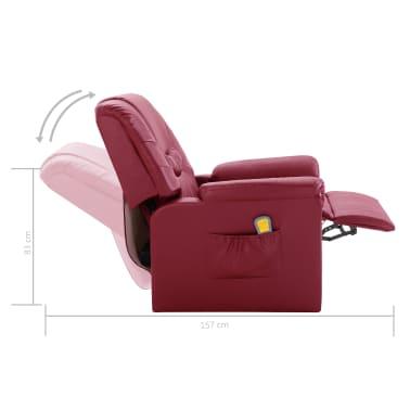 vidaXL Električni masažni stol vinsko rdeče umetno usnje[11/11]