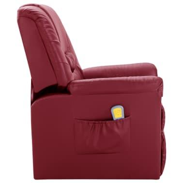 vidaXL Električni masažni stol vinsko rdeče umetno usnje[3/11]