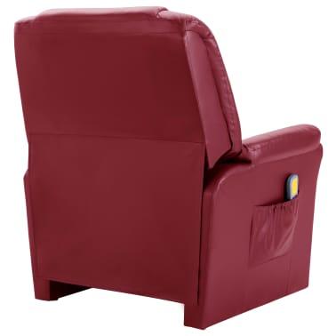 vidaXL Električni masažni stol vinsko rdeče umetno usnje[4/11]