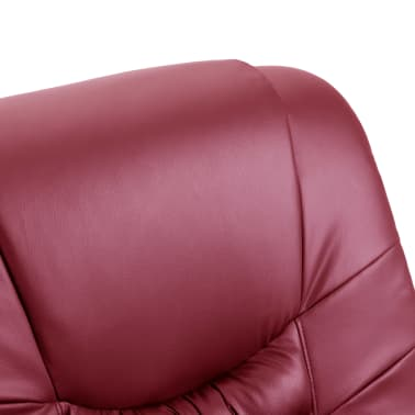 vidaXL Električni masažni stol vinsko rdeče umetno usnje[7/11]