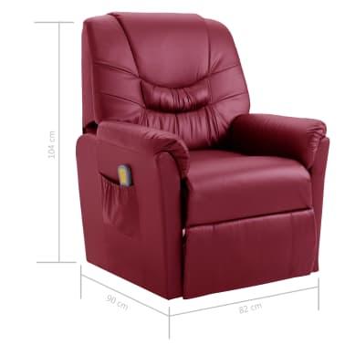 vidaXL Električni masažni stol vinsko rdeče umetno usnje[10/11]
