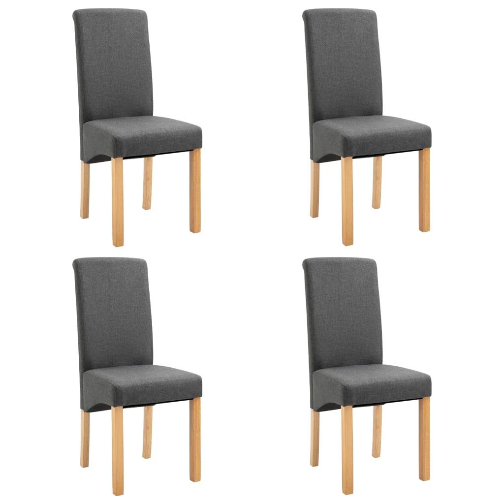 vidaXL Καρέκλες Τραπεζαρίας 4 τεμ. Γκρι Υφασμάτινες