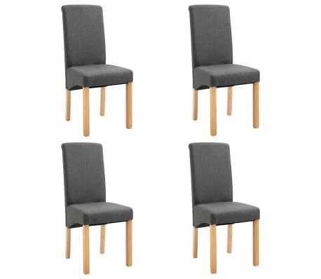 vidaXL Dining Chairs 4 pcs Grey Fabric