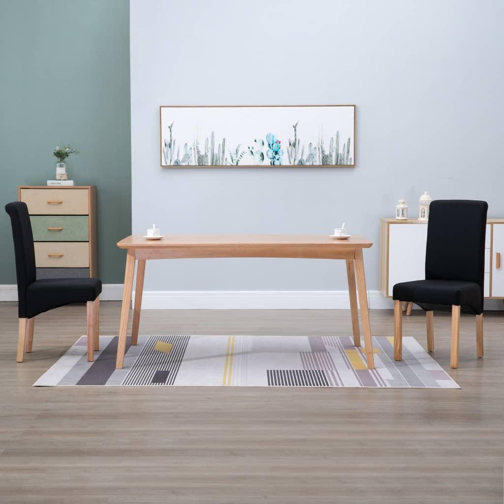 vidaXL Blagovaonske stolice od tkanine 2 kom crne