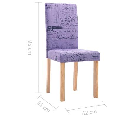 vidaXL Esszimmerstühle 2 Stk. Lila Stoff