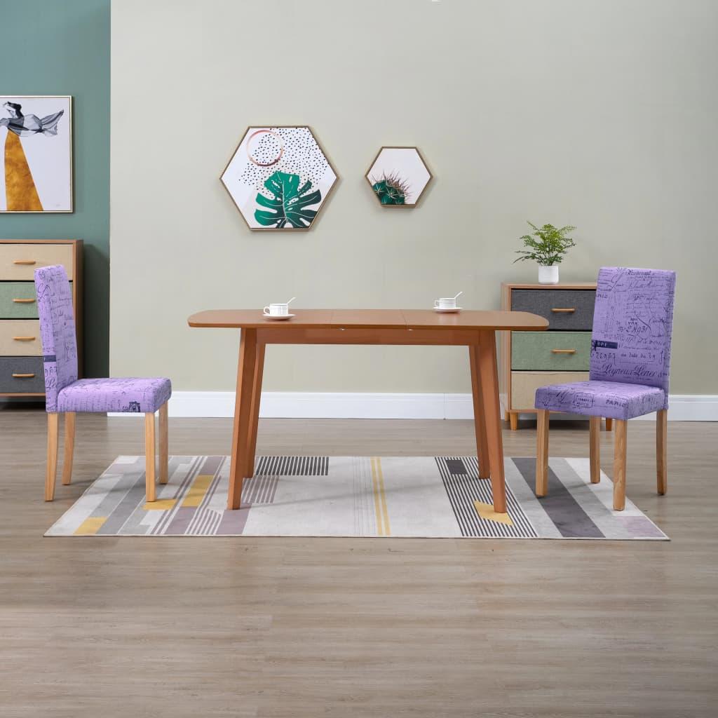 vidaXL spisebordsstole 2 stk. stof lilla