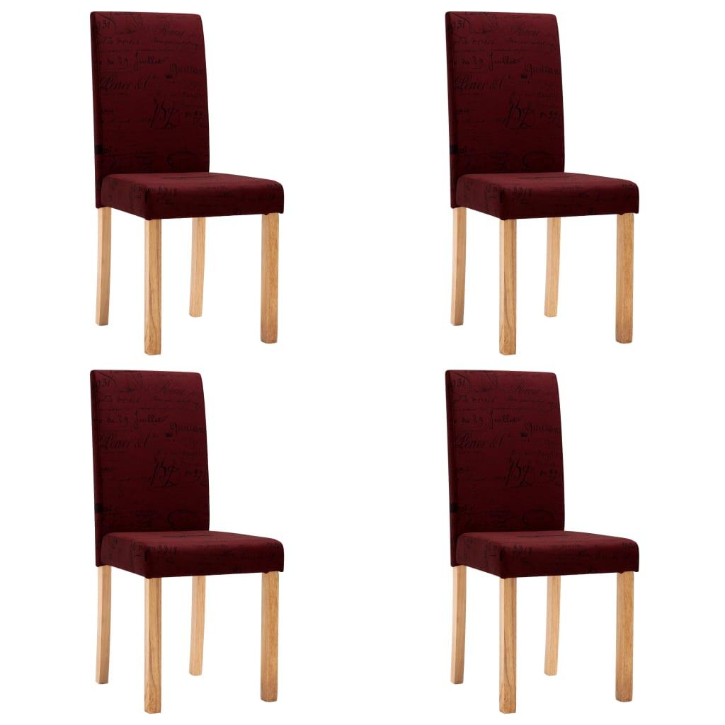 99249052 Esszimmerstühle 4 Stk. Weinrot Polyester