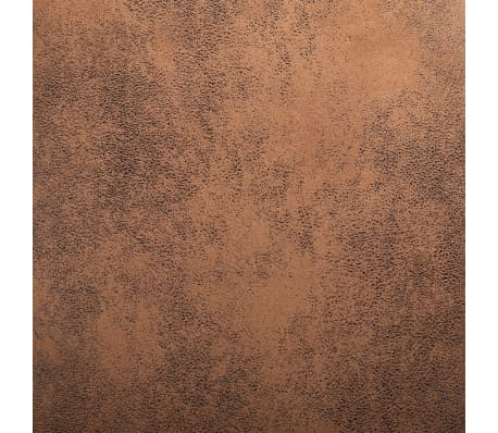 vidaXL Dining Chairs 2 pcs Brown Faux Suede Leather[8/9]