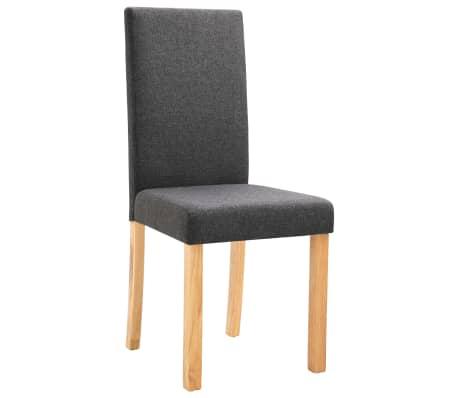 vidaXL Dining Chairs 2 pcs Dark Gray Fabric[3/9]