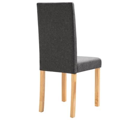 vidaXL Dining Chairs 2 pcs Dark Gray Fabric[6/9]
