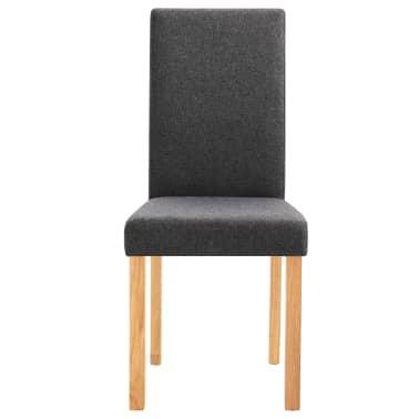 vidaXL Dining Chairs 2 pcs Dark Gray Fabric[4/9]