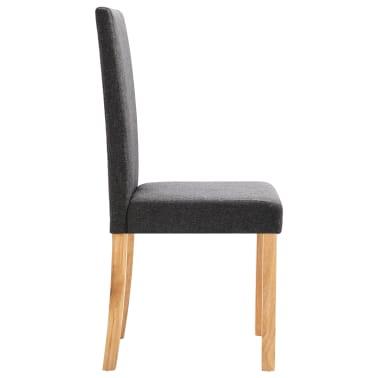 vidaXL Dining Chairs 2 pcs Dark Gray Fabric[5/9]