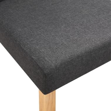 vidaXL Dining Chairs 2 pcs Dark Gray Fabric[7/9]