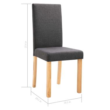 vidaXL Dining Chairs 2 pcs Dark Gray Fabric[9/9]