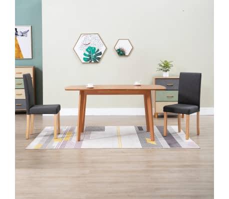 vidaXL Dining Chairs 2 pcs Dark Gray Fabric[1/9]