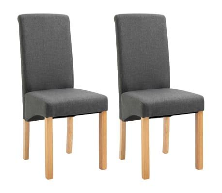 vidaXL Dining Chairs 2 pcs Gray Fabric