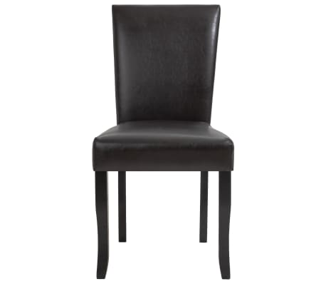 vidaXL Dining Chairs 2 pcs Brown Faux Leather[3/8]