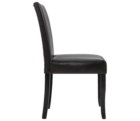 vidaXL Dining Chairs 2 pcs Brown Faux Leather[4/8]