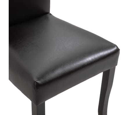 vidaXL Dining Chairs 2 pcs Brown Faux Leather[6/8]