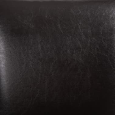 vidaXL Dining Chairs 2 pcs Brown Faux Leather[7/8]