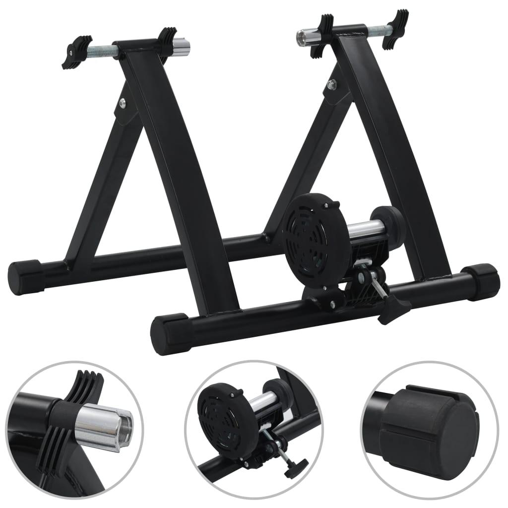 vidaXL Suport de bicicletă pentru antrenament, negru, 66-71 cm, oțel vidaxl.ro