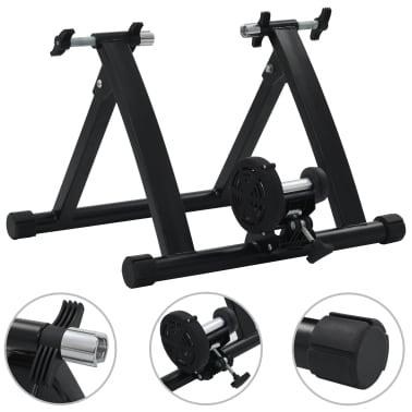 vidaXL Suport de bicicletă pentru antrenament, negru, 66-71 cm, oțel[1/10]