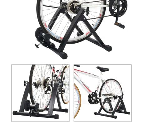vidaXL Suport de bicicletă pentru antrenament, negru, 66-71 cm, oțel[2/10]
