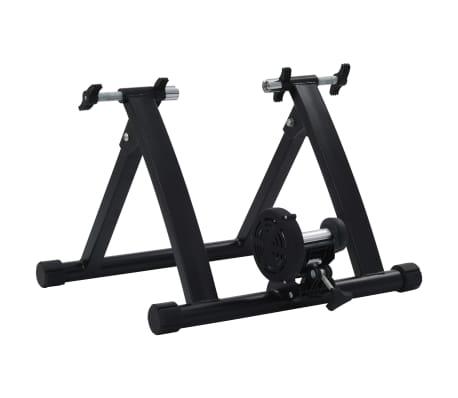 vidaXL Suport de bicicletă pentru antrenament, negru, 66-71 cm, oțel[3/10]