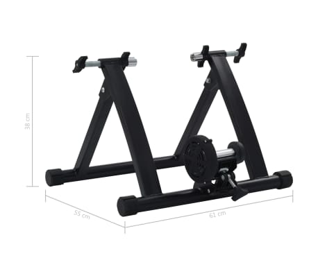 vidaXL Suport de bicicletă pentru antrenament, negru, 66-71 cm, oțel[10/10]