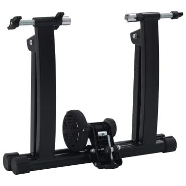 vidaXL Suport de bicicletă pentru antrenament, negru, 66-71 cm, oțel[4/10]