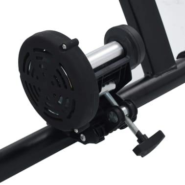 vidaXL Suport de bicicletă pentru antrenament, negru, 66-71 cm, oțel[7/10]