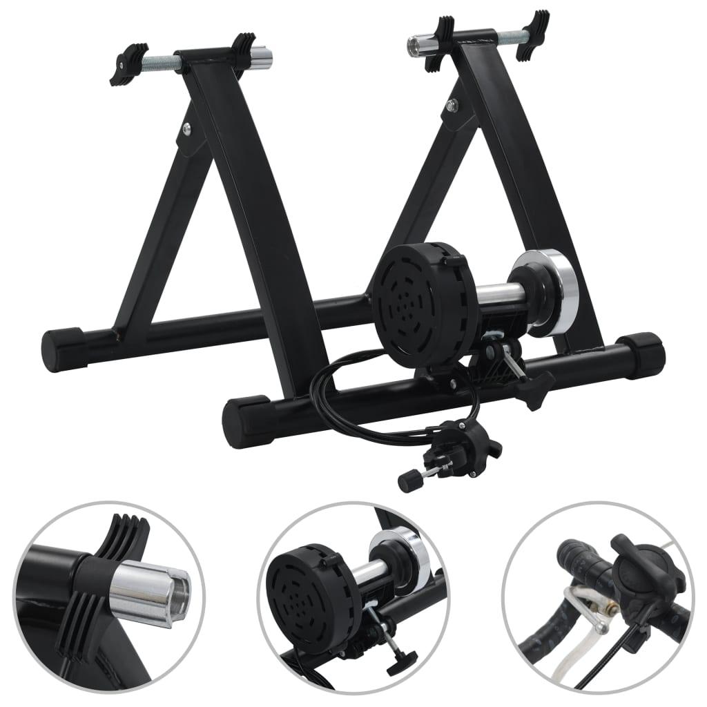 """vidaXL Suport de bicicletă pentru antrenament, negru, 26""""-28""""cm, oțel vidaxl.ro"""