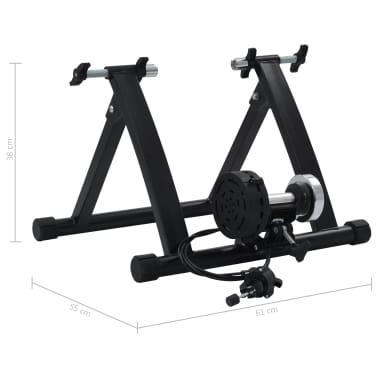 """vidaXL Roltrainer 26""""-28"""" staal zwart[11/11]"""