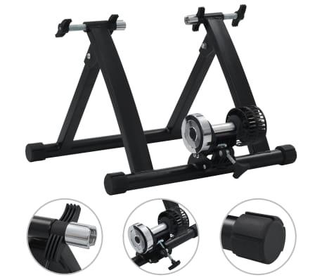 """vidaXL Träningsställning för cykel 26""""-28"""" stål svart"""
