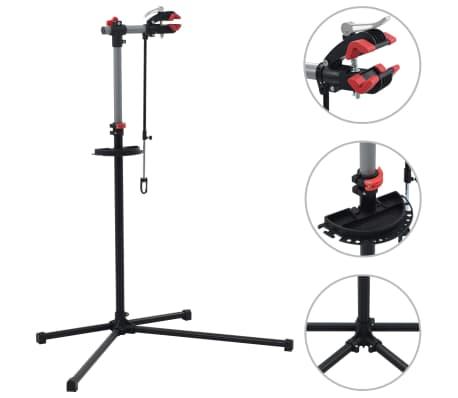 vidaXL Bike Repair Stand 104x68x(110-190) cm Steel Black