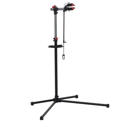 vidaXL Reparationsstativ för cykel 104x68x(110-190) cm stål svart[2/10]