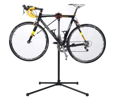 vidaXL Reparationsstativ för cykel 104x68x(110-190) cm stål svart[3/10]