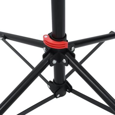 vidaXL Dviračio remonto stovas, juodas, 103x103x(115-200)cm, plienas[6/10]
