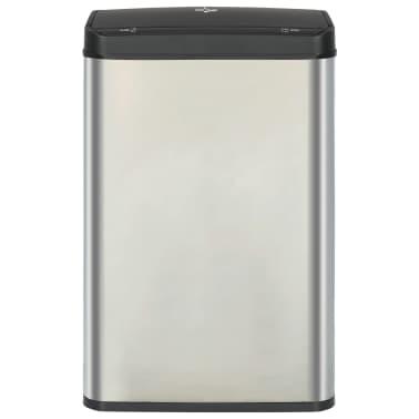 vidaXL Prullenbak met automatische sensor 60 L RVS zilver en zwart[3/11]