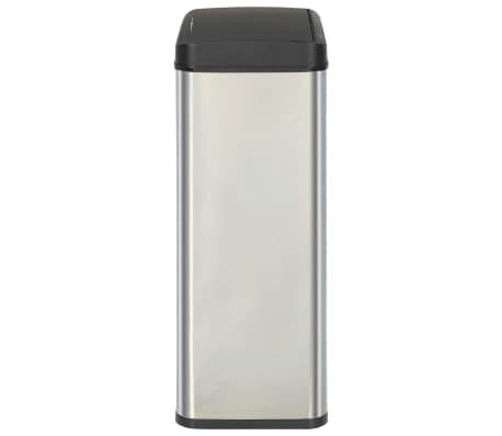 vidaXL Coș de gunoi senzor automat argintiu&negru 70 L oțel inoxidabil[4/11]