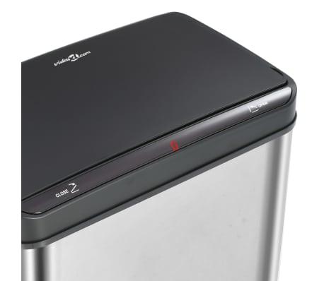 vidaXL Coș de gunoi senzor automat argintiu&negru 70 L oțel inoxidabil[8/11]