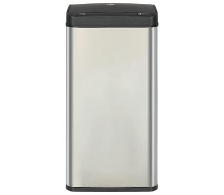 vidaXL Coș de gunoi senzor automat argintiu&negru 80 L oțel inoxidabil[3/11]