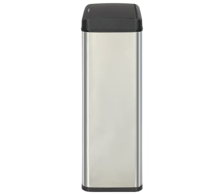 vidaXL Coș de gunoi senzor automat argintiu&negru 80 L oțel inoxidabil[4/11]