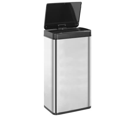 vidaXL Coș de gunoi senzor automat argintiu&negru 80 L oțel inoxidabil[6/11]