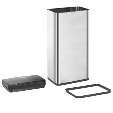 vidaXL Coș de gunoi senzor automat argintiu&negru 80 L oțel inoxidabil[7/11]